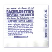 Bachelorette Trivia Game Napkins (25)