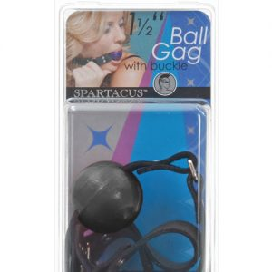 "1.5"" ball gag w/buckle - black"