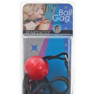 "1.5"" ball gag w/buckle - red"