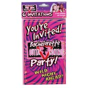 Bachelorette 'Wild Night Ahead!' Party Invitations