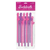 Dicky Sipping Straws Pink/Purple 10pc