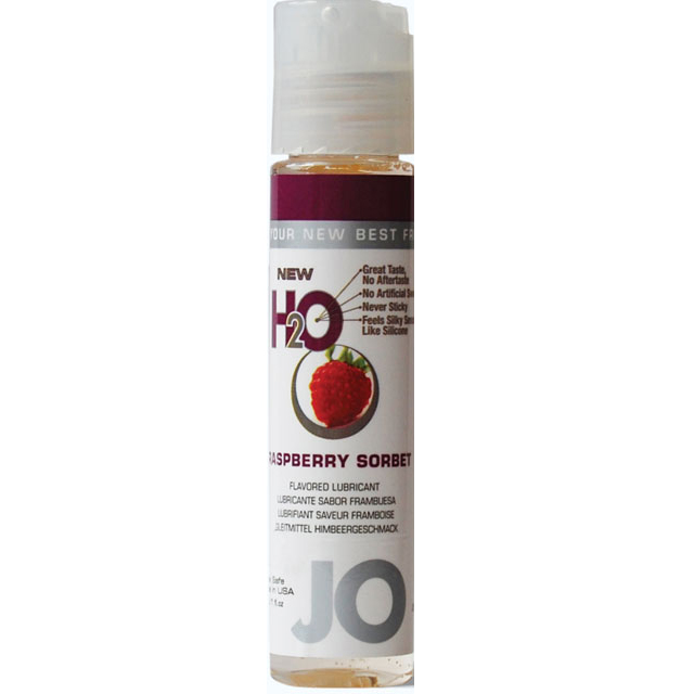 System Jo Flavored  1.oz Lube - Raspberry Sorbet