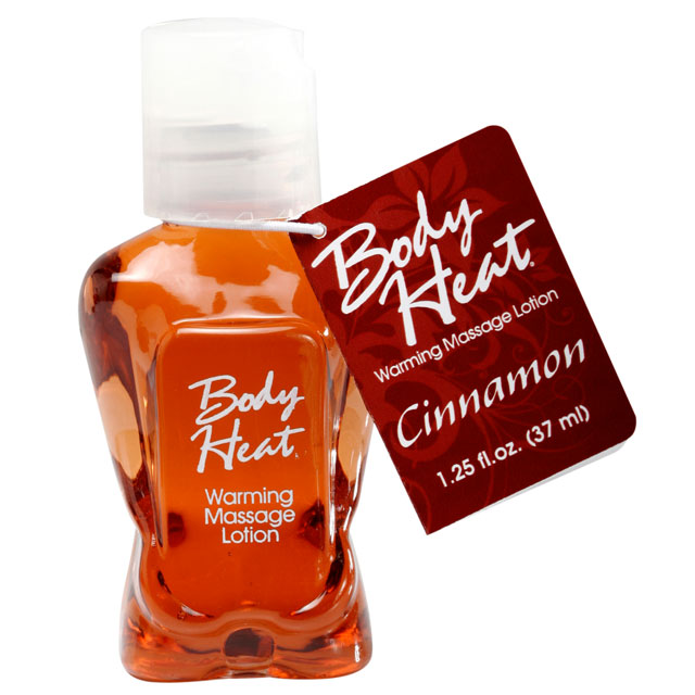 Body Heat Warming Massage Lotion 1.5oz - Cinnamon