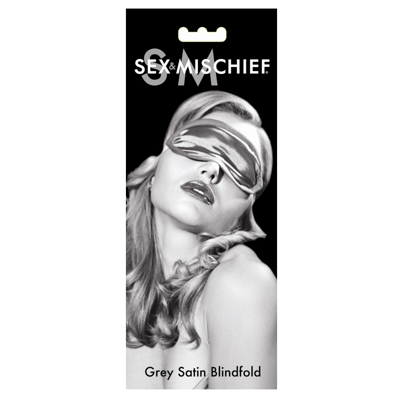 S & M Grey Satin Blindfold