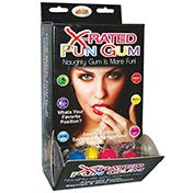 X-Rated Fun Gum Wall Mount DP (50pcs