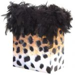 Chandelle gift bag - leopard