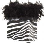 chandelle gift bag - zebra
