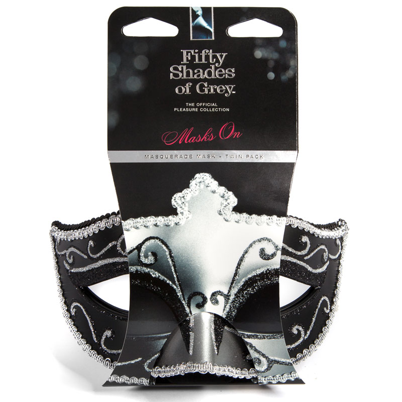 Fifty Shades of Grey On Masquerade Mask Twin Pack