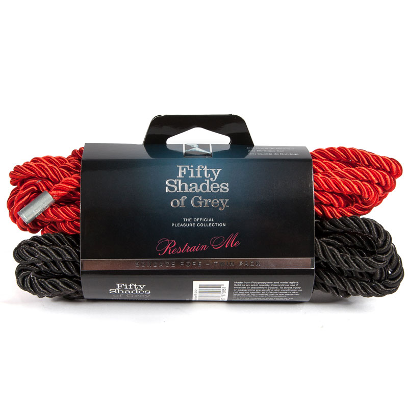 Fifty Shades of Grey Restrain Me Bondage Rope Twin Pack (1 Red/