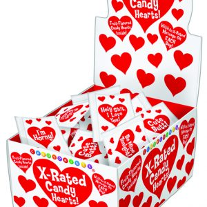 Unprinted Heart Shaped Candy 3 Pieces Per Bag (100/DP)