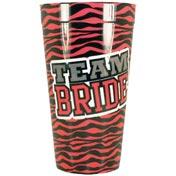 Team Bride Zebra Print Plastic Cup