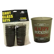 Happy Fucking B-Day Shot Glass Set(12Pk)
