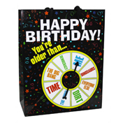 Happy Birthday Gift Bag: Your Older Spinner
