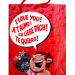 I love you w/flowers gift bag