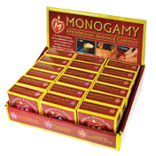 Monogamy Massage Candle 18pc Display