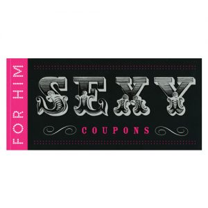 Sexy coupon for him coupon book