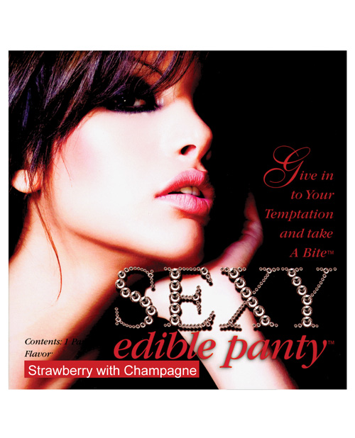 Sexy edible panty - strawberry w/champagne
