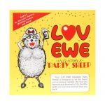 Love ewe inflatable party sheep - black