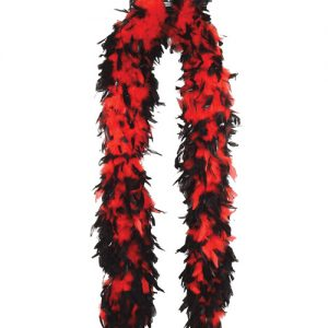 Heavy weight chandelle boa - red w/black tips