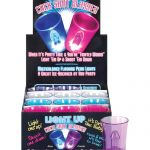 Light Up Cock Shot Glasses - Display of 12