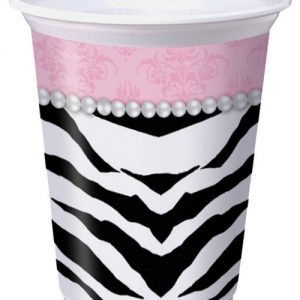 Zebra pearl 16 oz cups - pack of 8