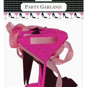 12 ft martini & heels glitter ribbon garland