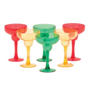 Margarita Shot Glasses - Asst. Colors Pack of 6