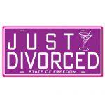 Just divorced license plate