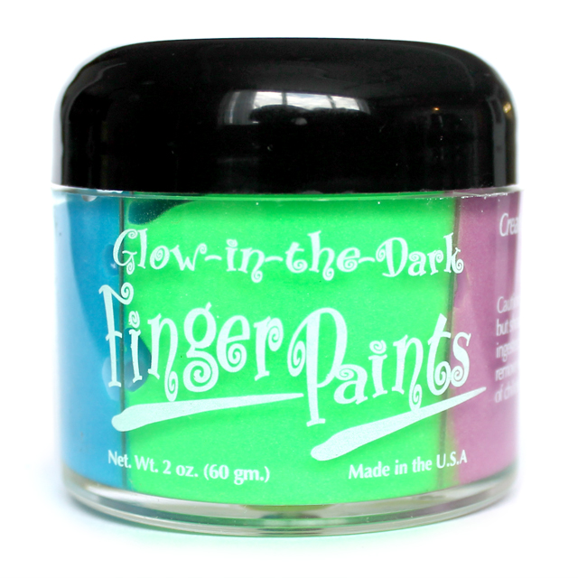 Glow in the Dark Finger Paints (2oz