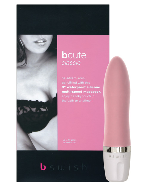 Bcute classic silicone waterproof massager - pink