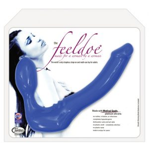 Tantus vibrating silicone slim feeldoe - blue