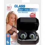 Glass ben wa balls - blue blossom