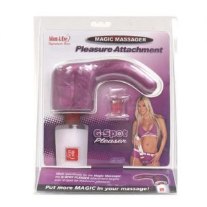 Magic massager g-spot pleaser attachment - magenta