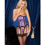 Betty rubber look corset front busk opening