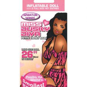 """26"""" miss dusky diva blow up  mini doll"""