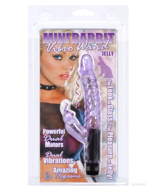 Jelly mini rabbit vibro wand - purple