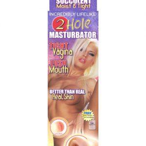 2 hole masturbator