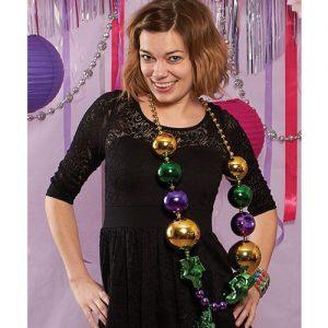 Jumbo Mardi Gras Beads w/Mask