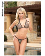SHEER LYCRA NET BIKINI TOP & LINED G-STRING BOTTOM -ML