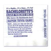 Bachelorette Trivia Game Napkins (25)