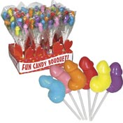 Candy Penis Bouquet Display