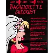 Bachelorette Checklist Gift Bag