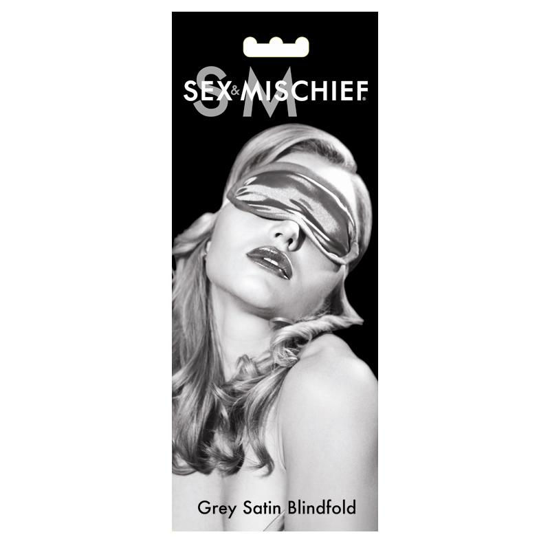 S & M Grey Satin Blindfold