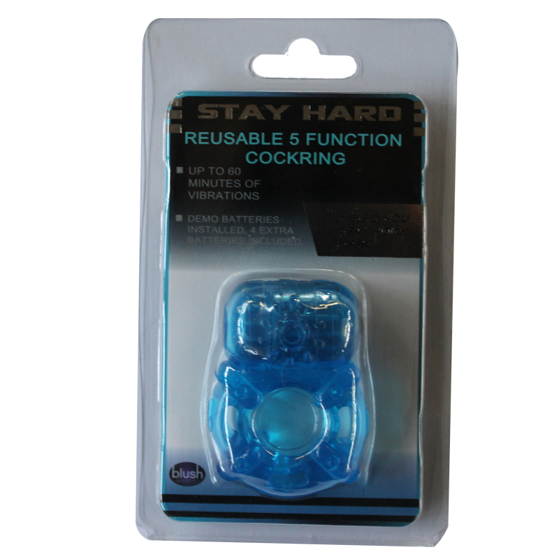Stay Hard Vibrating Cockring - blue