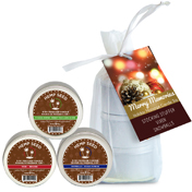 Earthly Body 2016 Holiday Candle Trio Holiday Trio