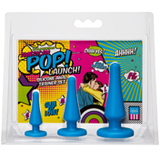 American Pop! Launch! Silicone Anal Trainer Set Blue