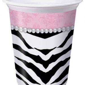 Zebra pearl 16 oz cups - pack of 8