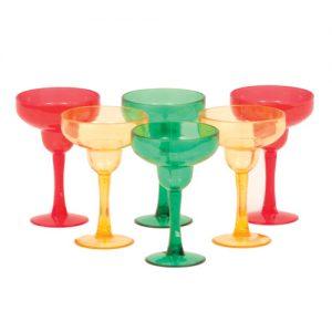 Margarita Shot Glasses - Asst. Colors Pack of 6