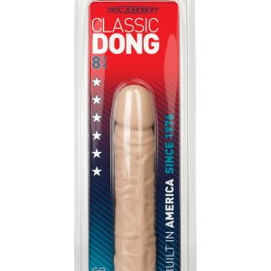 """8"""" classic dong - white"""