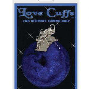 Love cuffs furry - blue